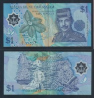1996 Negara Brunei Darussalam ONE DOLLAR $1 Banknote Currency Money (#146B) C/2-464337 - Brunei