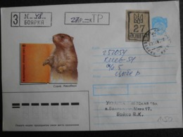 Russia USSR 1993 - Letter WWF Eurasian Beaver (2) - Lettres & Documents