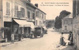 78-SAINT-REMY-LES-CHEVREUSES- LA PLACE DE LA POSTE, LA ROUTE DE LIMOURS - St.-Rémy-lès-Chevreuse