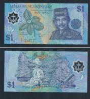 1996 Negara Brunei Darussalam ONE DOLLAR $1 Banknote Currency Money (#146D) C/5-555877 AU Nice Number - Brunei
