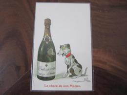 Carte Postale Illustrateur Benjamin Rabier Le Choix De Son Maître Champagne Delbeck Reims - Rabier, B.