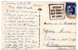 ARDENNES - Dépt N° 08 = SEDAN 1938 = FLAMME  DAGUIN 'DRAPS / TISSUS / LAINE' (petites Lettres) - Mechanical Postmarks (Other)