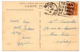 ARDENNES - Dépt N° 08 = SEDAN 1928 = FLAMME  DAGUIN 'DRAPS / TISSUS / LAINE' (grandes Lettres) - Mechanical Postmarks (Other)
