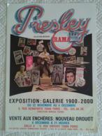 AFFICHE ANCIENNE ORIGINALE EXPOSITION ELVIS PRESLEY VENTE AUX ENCHERES DROUOT - Plakate & Poster
