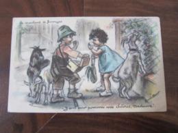 Carte Postale Illustrateur Germaine Bouret Le Marchand De Fromage - Bouret, Germaine
