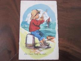 Carte Postale Illustrateur Germaine Bouret Le Vieux Loup De Mer - Bouret, Germaine
