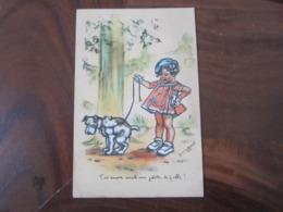 Carte Postale Illustrateur Germaine Bouret T'as Encore Avalé Une Pelote De Ficelle - Bouret, Germaine