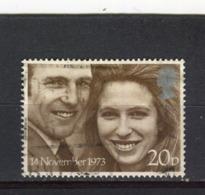 GRANDE-BRETAGNE - Y&T N° 701° - Mariage De La Princesse Anne Et Du Captain Mark Philipps - 1952-.... (Elizabeth II)