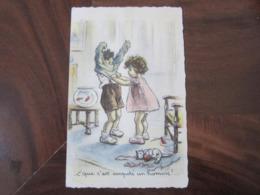 Carte Postale Illustrateur Germaine Bouret C'que C'est Empoté Un Homme! - Bouret, Germaine