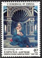 España. Spain. 1985. Europalia 85. Virgen De Lovaina - 1981-90 Nuevos & Fijasellos