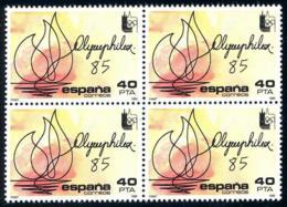 España. Spain. 1985. B4. OLYMPHILEX 85. Exposicion Filatelica Internacional - 1931-Hoy: 2ª República - ... Juan Carlos I