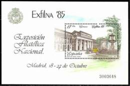 España. Spain. 1985. HB. Exposicion Filatelica Nacional. EXFILNA 85. Madrid - 1981-90 Nuevos & Fijasellos