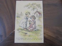 Carte Postale Illustrateur Germaine Bouret C'est Jésus Qui Vous Donne Un Coeur Pur - Bouret, Germaine