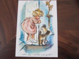 Carte Postale Illustrateur Germaine Bouret Voilà Que T'écoutes Aux Portes? - Bouret, Germaine
