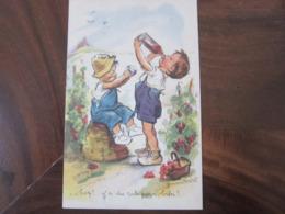 Carte Postale Illustrateur Germaine Bouret Hep! Y 'a Du Rab Pour Bibi? - Bouret, Germaine