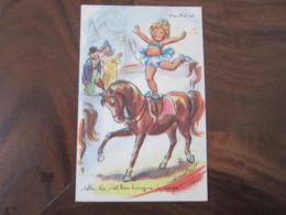 Carte Postale Illustrateur Germaine Bouret Equitation - Bouret, Germaine