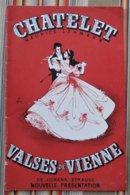 Programme CHATELET PUB Decca, Alcools, Champagne Castellane Perrier Jouet, Perrier,SNCF Biere CHAMPIGNEULLES Jean CHEVAL - Programmi