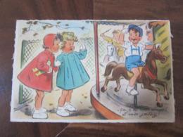 Carte Postale Illustrateur Germaine Bouret Ca C'est Mon Cheval Et Mon Jockey! - Bouret, Germaine
