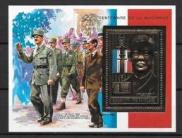 Centrafrique Bloc Timbre Or De Gaulle ** - De Gaulle (Général)