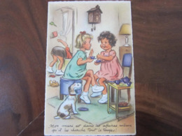 Carte Postale Illustrateur Germaine Bouret Mon Mari Est Dans Les Affaires... - Bouret, Germaine