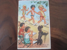Carte Postale Illustrateur Germaine Bouret Vote Pas Pour La 1ère Elle Fait De La Cellulite! - Bouret, Germaine