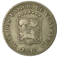 Monnaie, Venezuela, 5 Centimos, 1948, Philadelphie, TB+, Copper-nickel, KM:29a - Venezuela