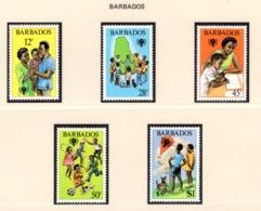 YEAR INTERN. OF CHILD - BARBADOS - Mi. Nr.  489/493 - NH - (6532-18.) - Senegal (1960-...)