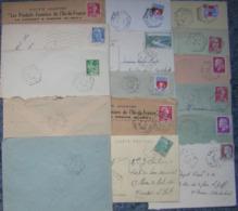 Marcophilie Lot 16 Enveloppes Oblitération Hexagonale Pointillé Ou Plein - Dont 1 Fragment - Briefmarken
