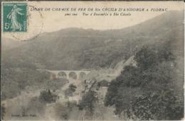Lozère : St Cécile D'Andorge : Ligne De Chemin De Fer Ste Cécile-Florac, Vue D'Ensemble A Ste Cécile... - France
