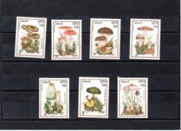 Lao Nº 633-39 Tema Setas, Serie Completa En Nuevo, 11 € - Hongos