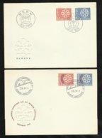 Suisse 2 Lettres Illustrées  FDC Premier Jour Bern & Montreux  22/61959 N°630 à 633 TB Soldé  Le Moins Cher Du Site !! ! - 1959