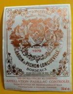 11750 - Château Longueville 1979 Pauillac - Bordeaux