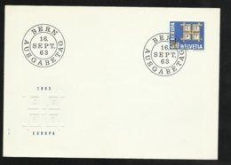 Suisse Lettre Illustrée  FDC Premier Jour Bern Le  16/091963 Le  N° 716   TB Soldé     Le Moins Cher Du Site ! ! ! - Europa-CEPT