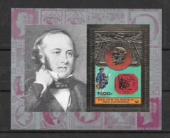 Comores Bloc Timbre Or Rowland Hill ** - Rowland Hill