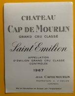 11752 - Château Cap De Mourlin 1967 Saint Emilion - Bordeaux
