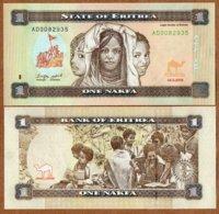 Eritrea, 1 Nakfa, 2015, P-New, Neu/New Colors UNC - Eritrea