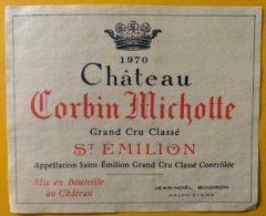 11754 - Château Corbin Michotte 1970 Saint Emilion - Bordeaux