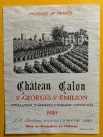 11756 - Château Calon 1980 Saint Emilion - Bordeaux
