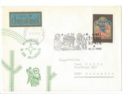 22391 - Christkindl 1990 Pour Dornbirn 19.12.1990 + Vignette - Weihnachten