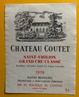 11757 - Château Coutet 1979 Saint Emilion - Bordeaux