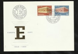 Suisse Lettre Illustrée  FDC Premier Jour Bern Le  08/04/1969 Les N° 832 Et 833   TB Soldé   Le Moins Cher Du Site ! ! ! - Europa-CEPT