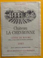 11761 - Château La Chevronne Côtes De Bourg 1985 - Bordeaux