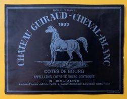 11762 - Château Guiraud-Cheval-Blanc Côtes De Bourg 1983 - Bordeaux