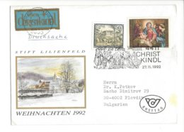 22392 - Christkindl 1992 Pour Plovdiv Bulgarien Stift Lilienfeld + Vignette - Weihnachten