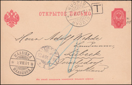Finnland Postkarte P 35 Mit T-Stempel Von MAANINKA 8.8.1901 über KUOPIO 9.8. - Unclassified