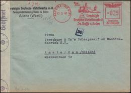 Zensurpost Absenderfreistempel Metallwerke Basse & Selve ALTENA / WESTF. 13.5.41 - Briefmarken