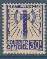 091- Timbre De Service - YT N°2 - 30c Outremer - 1943 - Service