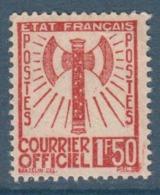 092- Timbre De Service - YT N°8 - 1f.50 Brun-orange - 1943 - Service