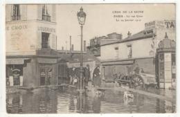 75 - PARIS 16 - La Rue Gros Le 29 Janvier 1910 (Coin De La Rue De Boulainvilliers Café Au Rond-Point De Grenelle) - ELD - Arrondissement: 16