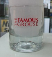 AC - THE FAMOUS GROUSE SCOTTISH WHISKEY GLASS WITH FEATHER FROM TURKEY - Glasses